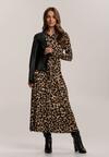 Beżowo-Czarna Sukienka Priselin