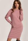 Różowa Sukienka Dzianinowa Thelless