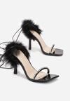 Czarne Sandały Chariesh