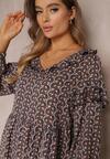 Granatowa Sukienka Zellana