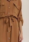 Ciemnobeżowa Sukienka Hareleth