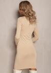 Beżowa Sukienka Mhyrtyse