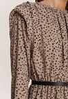 Beżowa Sukienka Savathera