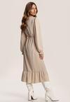 Jasnobeżowa Sukienka Acalephine