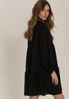 Czarna Sukienka Rhaedise