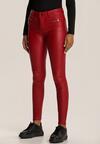 Czerwone Spodnie Skinny Asteoleora