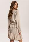 Jasnobeżowa Sukienka Physanara