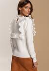 Biały Sweter Mossbrooke