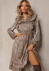 Beżowa Sukienka Regalwoods