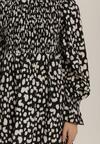 Biało-Czarna Sukienka Isonoe