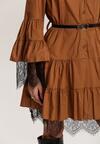 Ciemnobeżowa Sukienka Singleflow