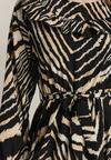 Czarno-Beżowa Sukienka Leafcaller