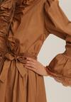Beżowa Sukienka Wranfaren