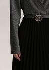 Czarno-Srebrna Sukienka Virjeon