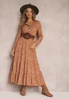 Camelowa Sukienka Daeiphise