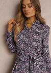 Granatowo-Fioletowa Sukienka Adreabel