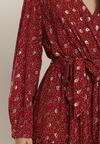 Bordowa Sukienka Sundove