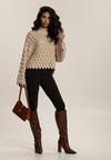 Beżowy Sweter Delamala