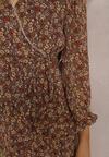Brązowa Sukienka Aroalophi