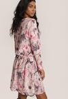 Różowo-Szara Sukienka Zapopa