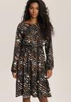 Czarno-Brązowa Sukienka Inoceneia