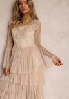 Beżowa Sukienka Nahlea