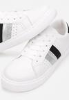 Biało-Czarne Buty Sportowe Haliciane