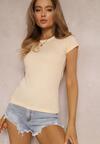 Łososiowy T-shirt Iameine