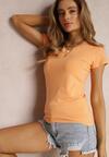 Pomarańczowy T-shirt Doriamara