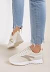 Beżowe Buty Sportowe Fisendri