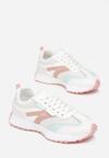 Biało-Różowe Buty Sportowe Fisendri
