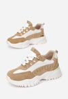 Biało-Beżowe Sneakersy Chasanri