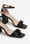 Czarne Sandały Thronypso