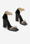 Czarne Sandały Sineshi