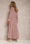 Ciemnoróżowa Sukienka Rhaeninix