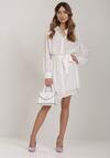 Biała Sukienka Messessei