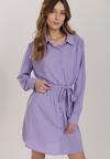Liliowa Sukienka Messessei