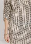 Beżowa Sukienka Euphelina