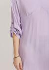 Liliowa Sukienka Aegadina
