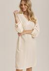 Kremowa Sukienka Aegadina