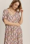 Różowa Sukienka Axiphea