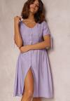 Liliowa Sukienka Prisertes