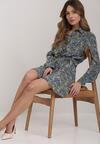 Granatowa Sukienka Phrixedice