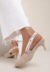 Beżowe Sandały Lamelato
