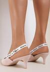 Różowe Sandały Lamelato