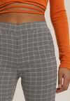 Czarno-Białe Spodnie Skinny Idalane