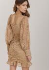 Ciemnobeżowa Sukienka Aphyse