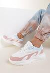 Biało-Różowe Sneakersy Nautinne