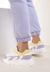 Biało-Liliowe Sneakersy Nautinne