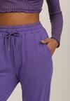 Fioletowe Spodnie Dresowe Typhanos